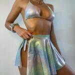 Купальник женский с юбкой Shimmery